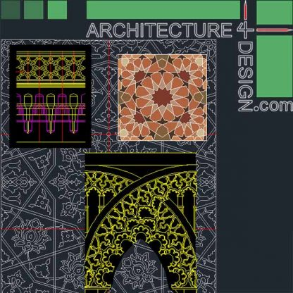 Islamic architecture ornament file