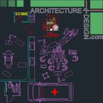 hospital furniture and equipment for Autocad