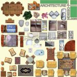 furniture in plan for Photoshop