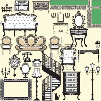 section furniture, section sofa, section in elevation