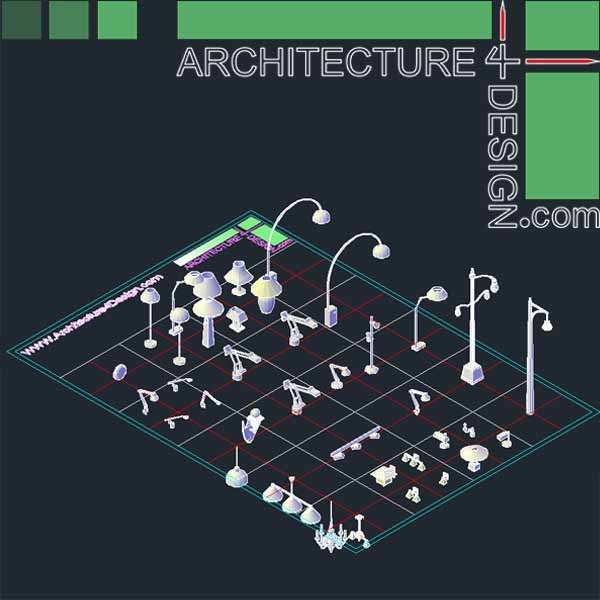 Autocad 3d Furniture Models Dwg File Architecture For