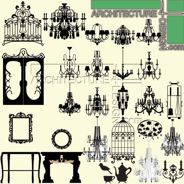 furniture elevation, furniture for section, photosop rendering