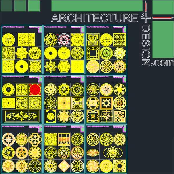 Flooring design samples for Autocad - DWG file