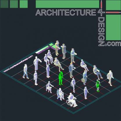 3d autocad entorage, 3d human objects