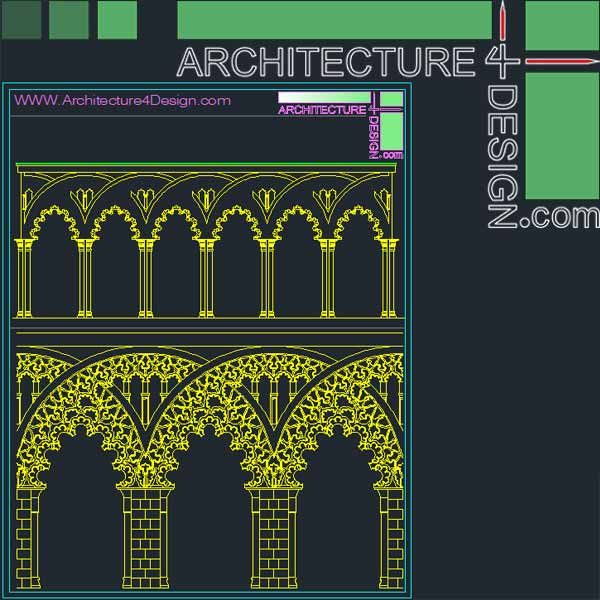 Alhambra arches for autocad