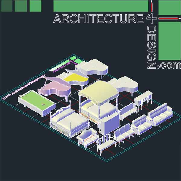 Autocad 3D furniture models DWG file Architecture for  : 041 from architecture4design.com size 600 x 600 jpeg 35kB