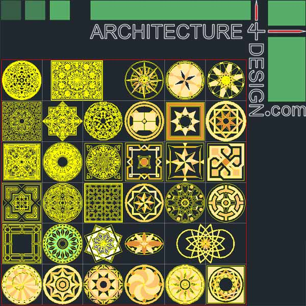 tile flooring samples for autocad