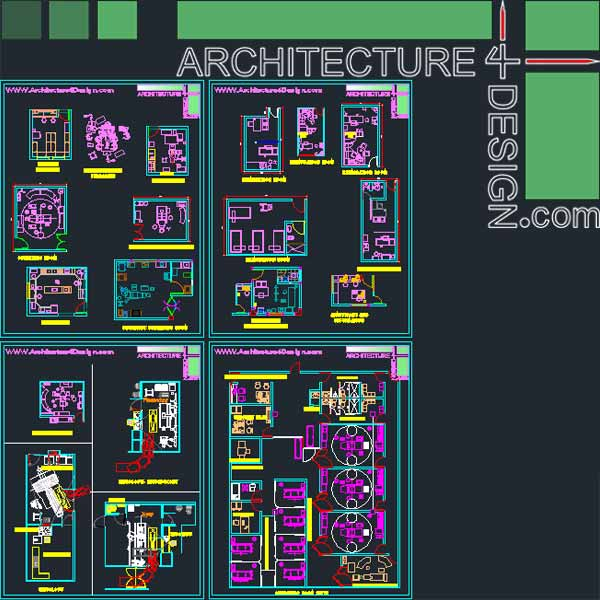 Hospital Furniture For Autocad Dwg File Architecture
