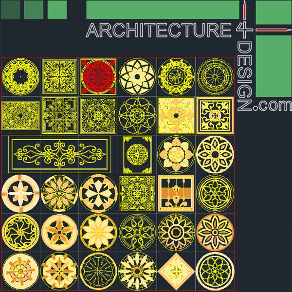 77 Flooring Design Patterns For Autocad Dwg File