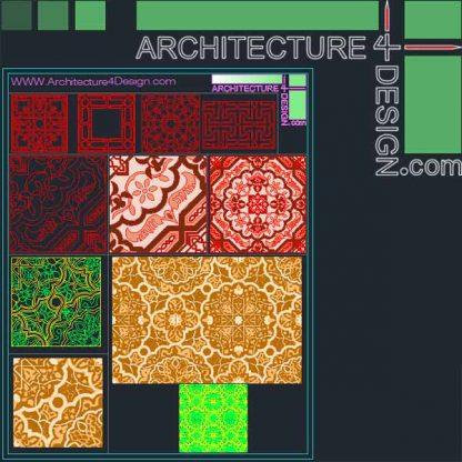 Islamic ceramic design for Autocad
