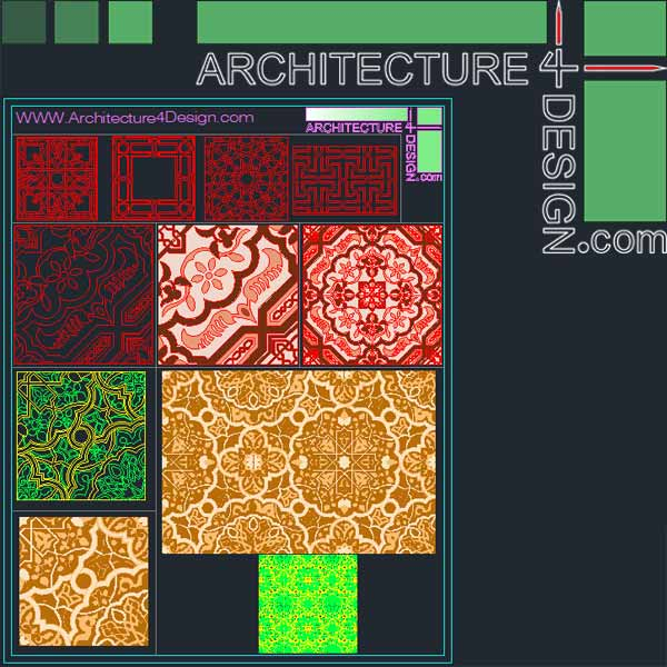 Islamic ceramic design for Autocad