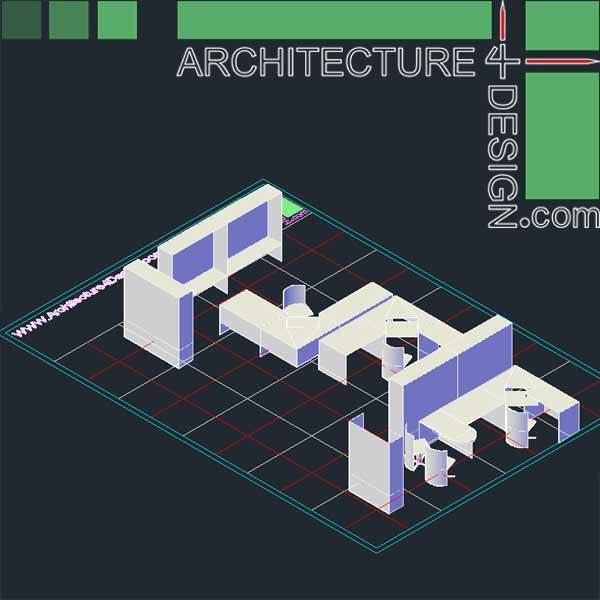 3d autocad office furniture
