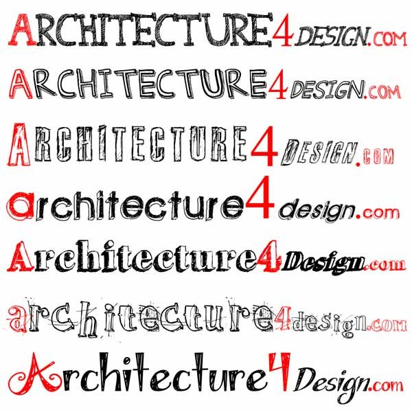 Architecture lettering fonts