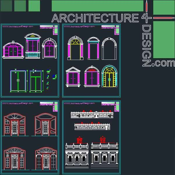 Classic architecture style facade