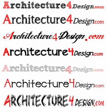 architectural sketch fonts lettering