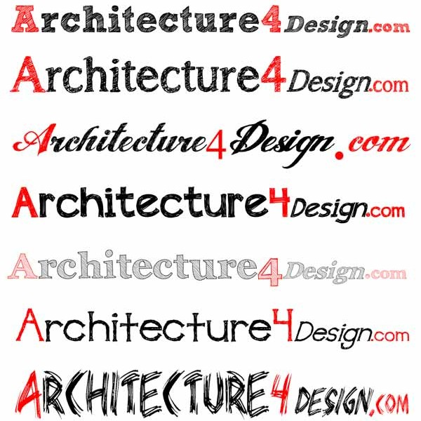 architectural sketch fonts lettering