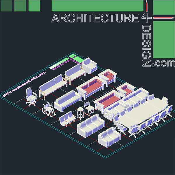 Autocad 3D furniture models DWG file Architecture for  : 111 from architecture4design.com size 600 x 600 jpeg 37kB