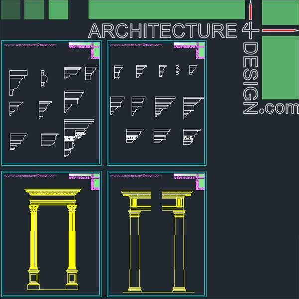 classical molding and columns