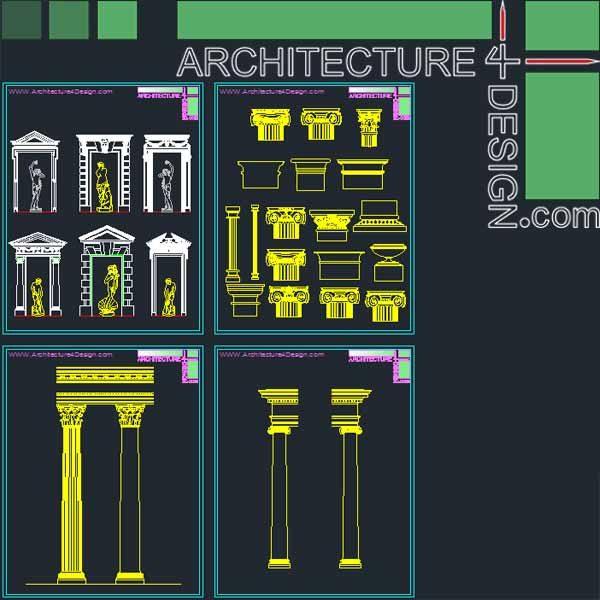 Classical pillar capital Greek and Roman orders