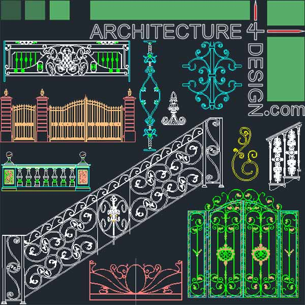 Forged Wrought Iron Railing And Gate Designs Stone