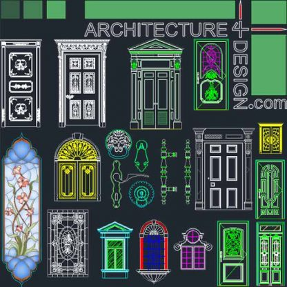Door and window design Stained glass design