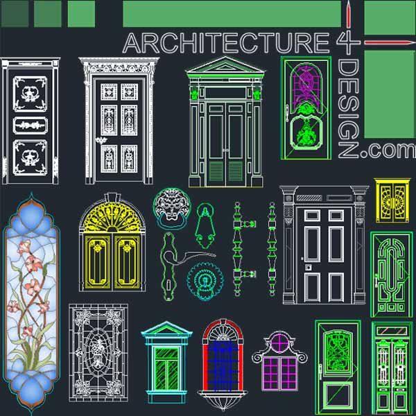 Door and window design Stained glass design