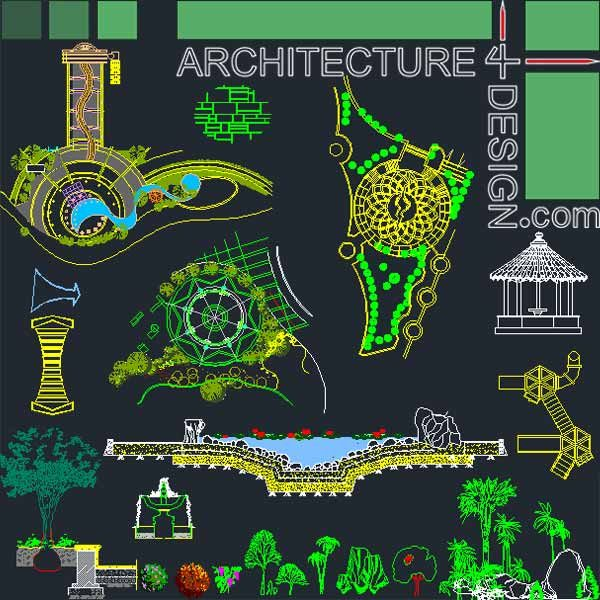 ... - designs, symbols and details for landscaping (AutoCad DWG file