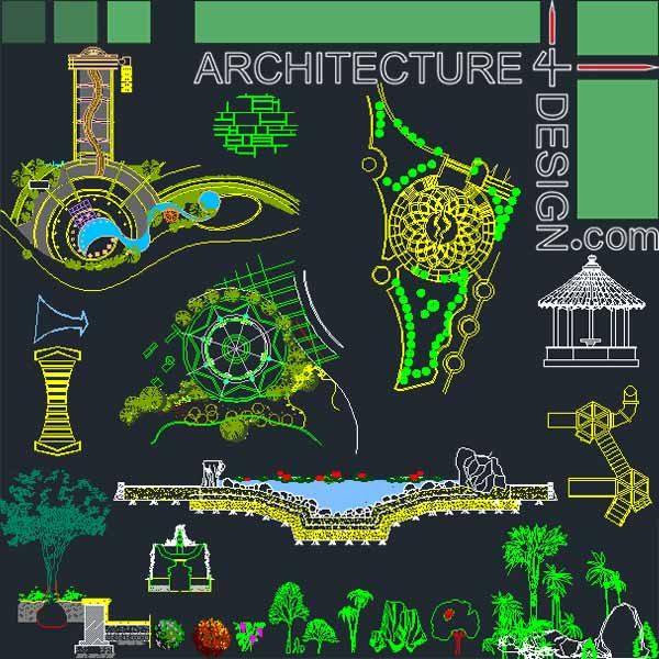 ... - designs, symbols and details for landscaping (AutoCad DWG file