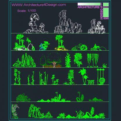 AutoCad landscape symbols