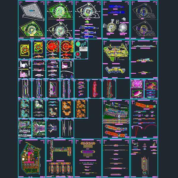 Bus terminal design AutoCad collection