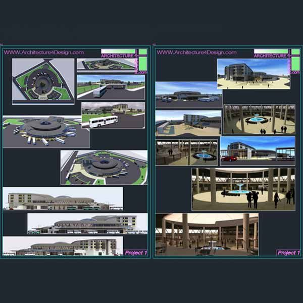 Bus terminal and bus station architecture design projects