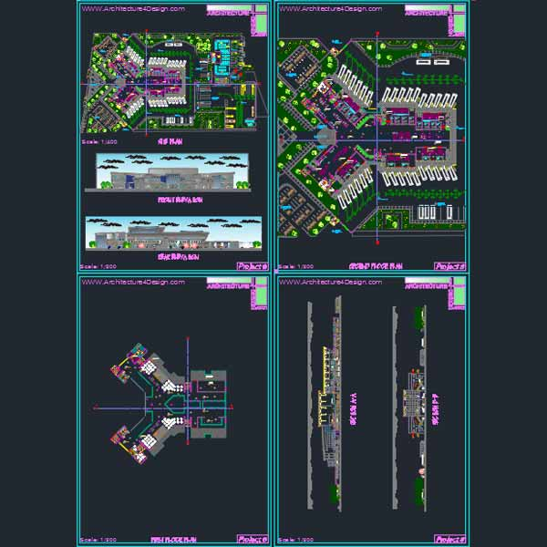 bus terminal plans autocad samples