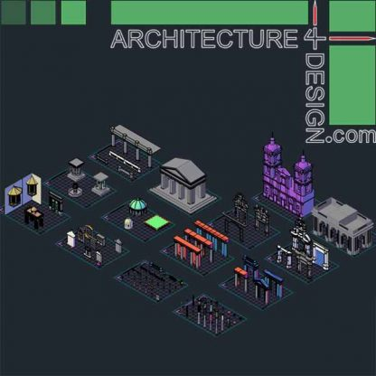 3D objects of classical architecture buildins