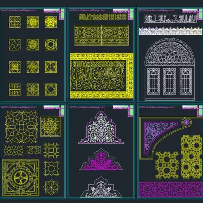 Islammic patterns Autocad DWG vector collection