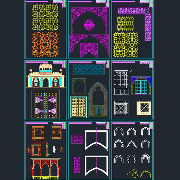 Autocad Collection Of Islamic Decoration Pieces