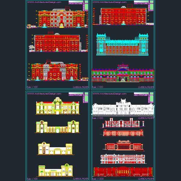 classical facades architecture