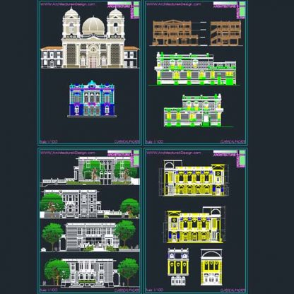 neoclassical facade- AutoCad drawings