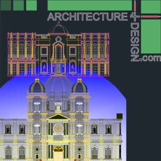 Classical Facades samples, Autocad drawings