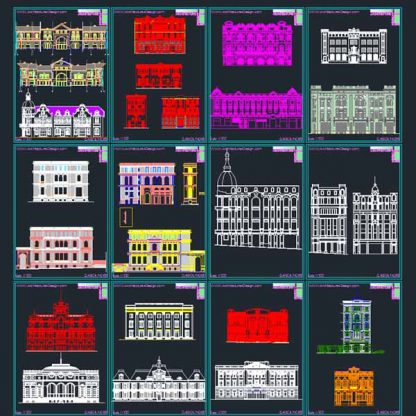classical facades elements, AutoCad dwg collectioann