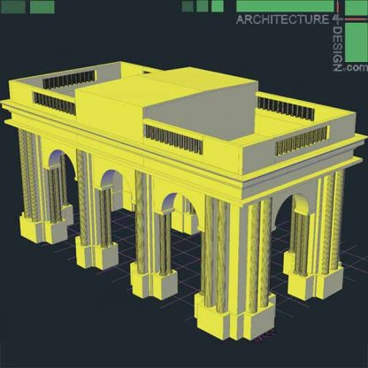 Autocad 3D objects of classical facades