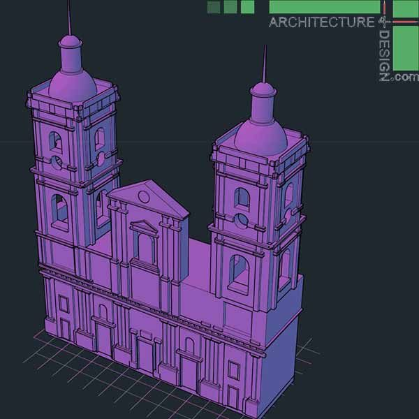 Classical architecture 3D models
