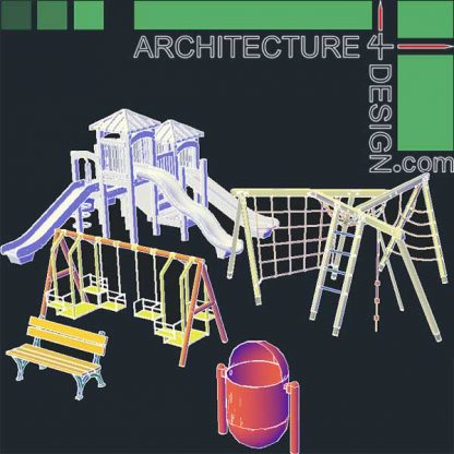 playground equipment, 3d Cad