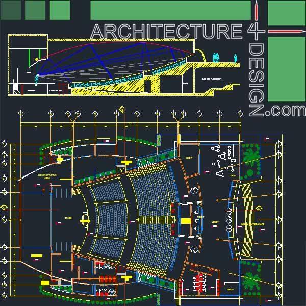 Auditorum architecture design samples autocad drawings for Architectural design sample