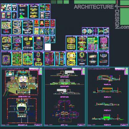 Autocad collection of auditorium design samples