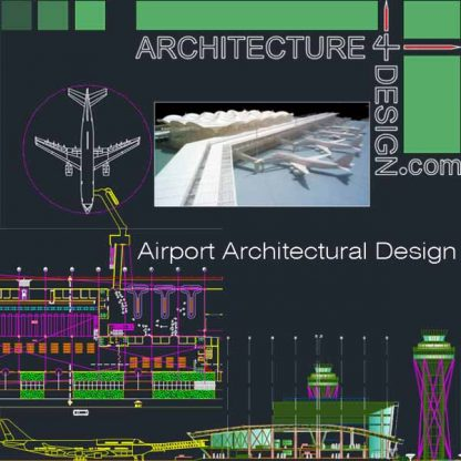 Airport architectural design Aitocad drawings