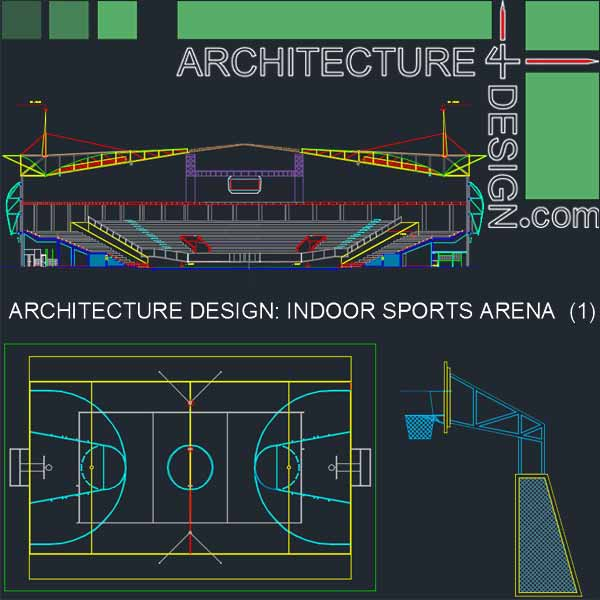 Sport complex arena architecture design autocad for Complete set of architectural drawings pdf