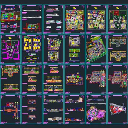 shopping mall architecture design autocad dwg files