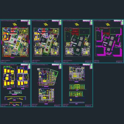 shopping mall plans- Autocad drawings
