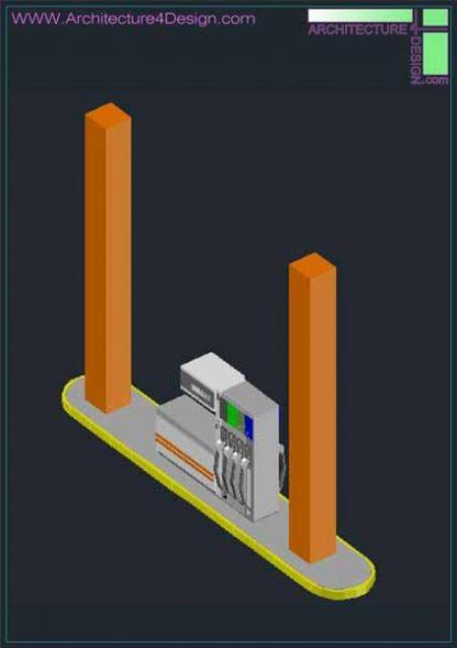 cng station design 3d model