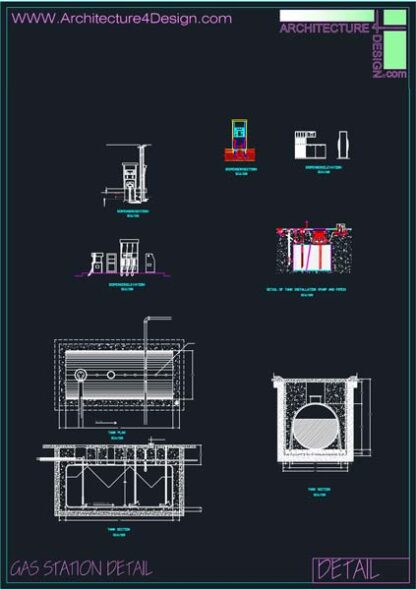 drawings of gas station equipment details